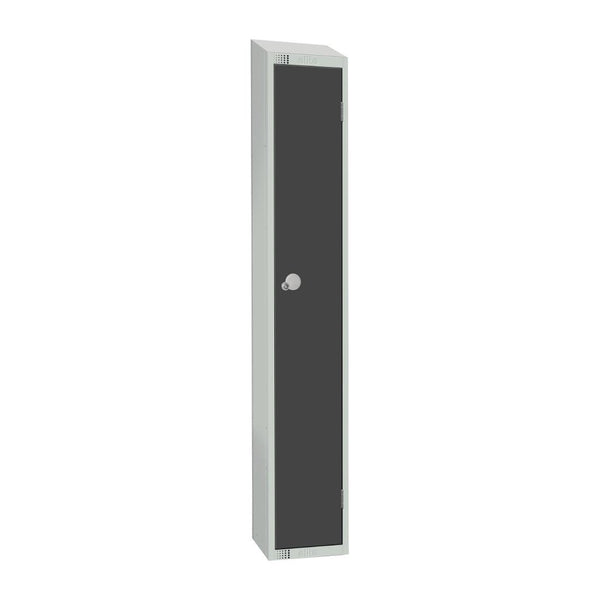 Elite Single Door Padlock Locker Graphite Grey with Sloping Top - GR677-PS