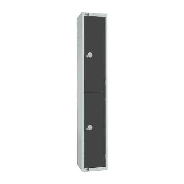 Elite Double Door Padlock Locker Graphite Grey - GR678-P