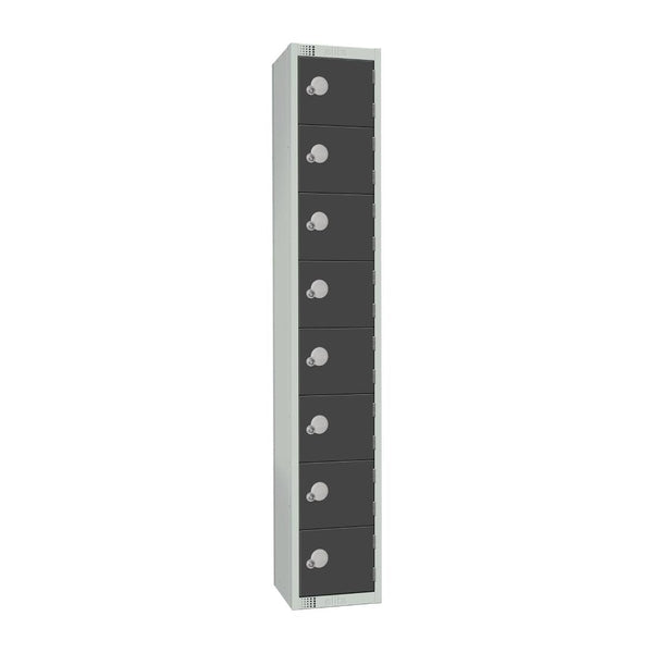 Elite Eight Door Coin Return Locker Graphite Grey - GR683-CN