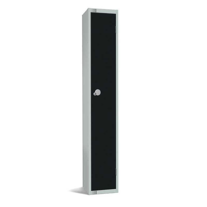Elite Single Door Manual Combination Locker Locker Black - GR684-CL