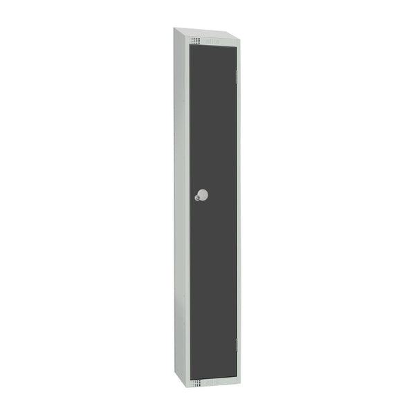 Elite Single Door Coin Return Locker with Sloping Top Graphite Grey - GR691-CNS