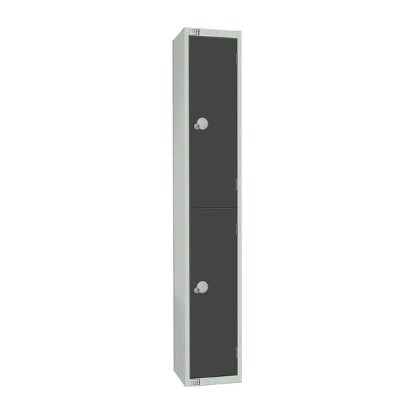 Elite Double Door Camlock Locker Graphite Grey - GR692-C