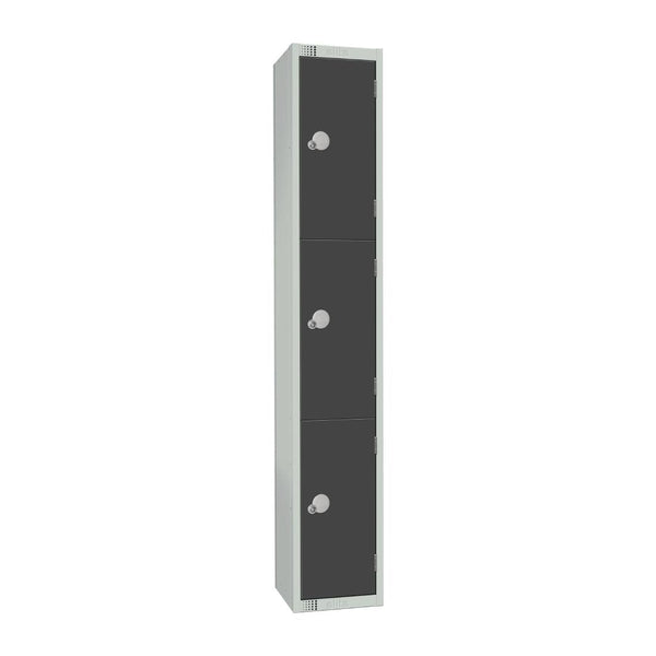 Elite Three Door Coin Return Locker Graphite Grey - GR693-CN