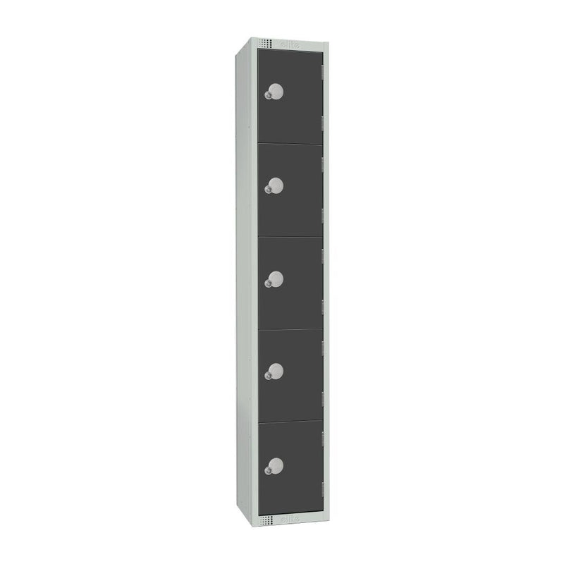 Elite Five Door Coin Return Locker Graphite Grey - GR695-CN