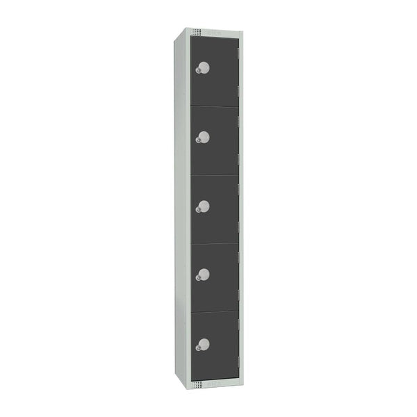 Elite Five Door Electronic Combination Locker Graphite Grey - GR695-EL