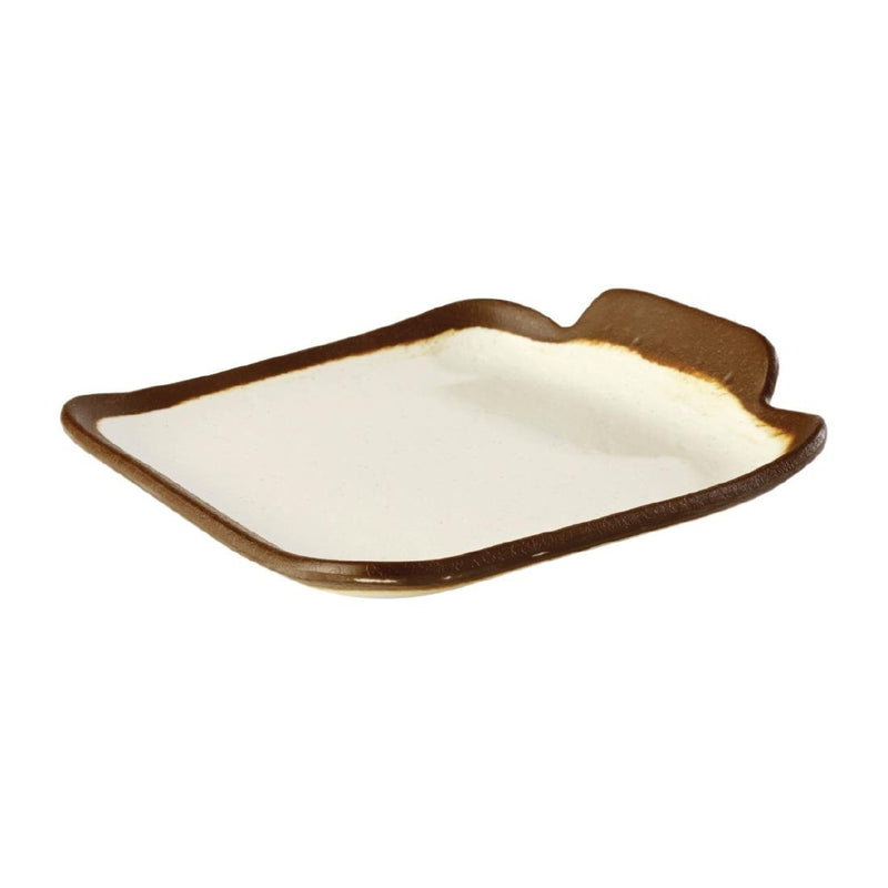APS Crocker Square Platter Cream 140mm - HC723