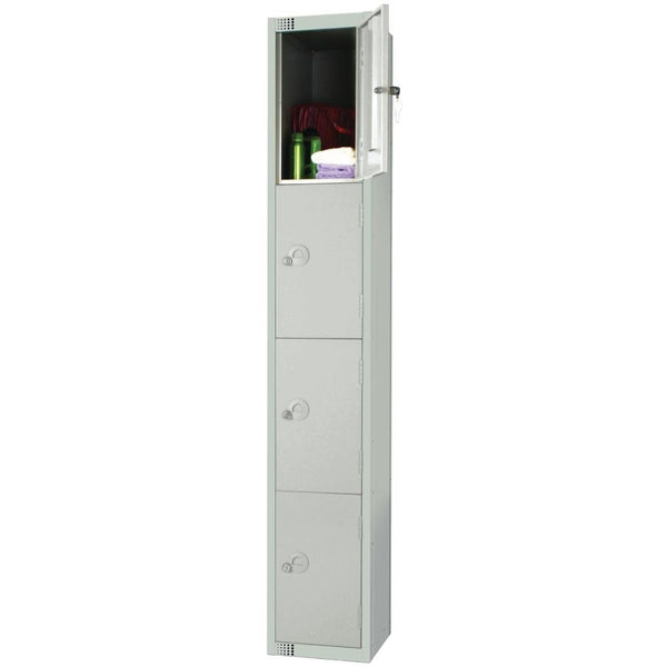 Elite Four Door Padlock Locker Grey - W932-P