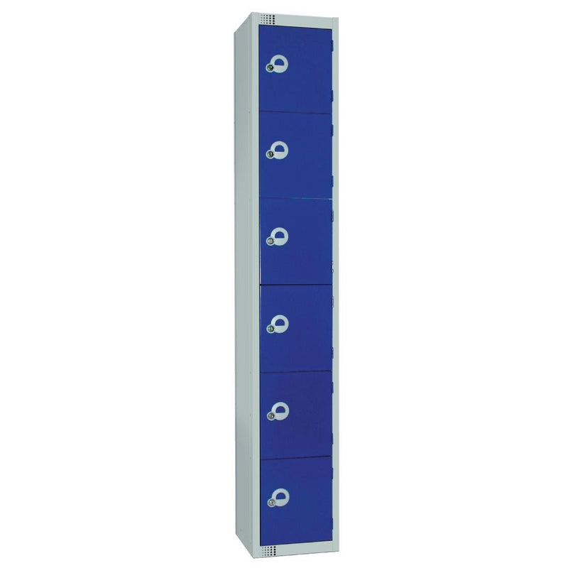 Elite Six Door Coin Return Locker Blue - W948-CN