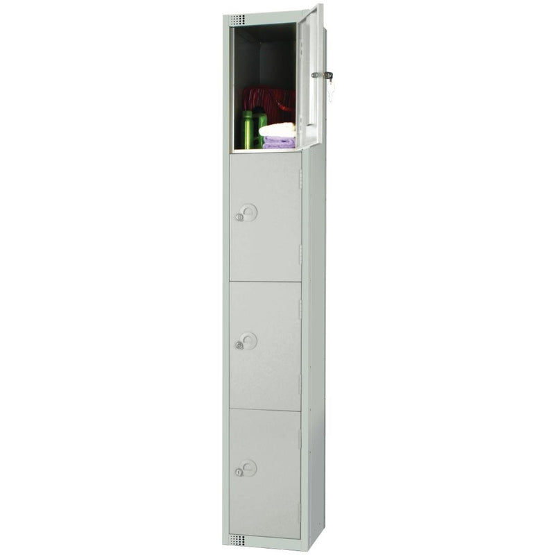 Elite Four Door Padlock Locker Grey - W962-P