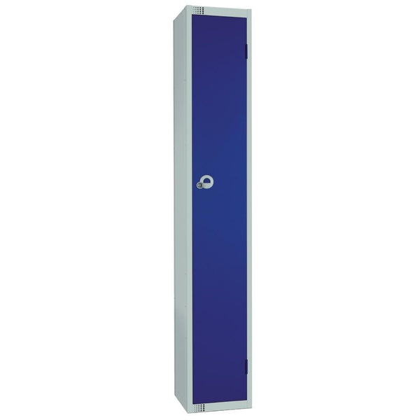 Elite Single Door Camlock Locker with Sloping Top Blue - W974-CS