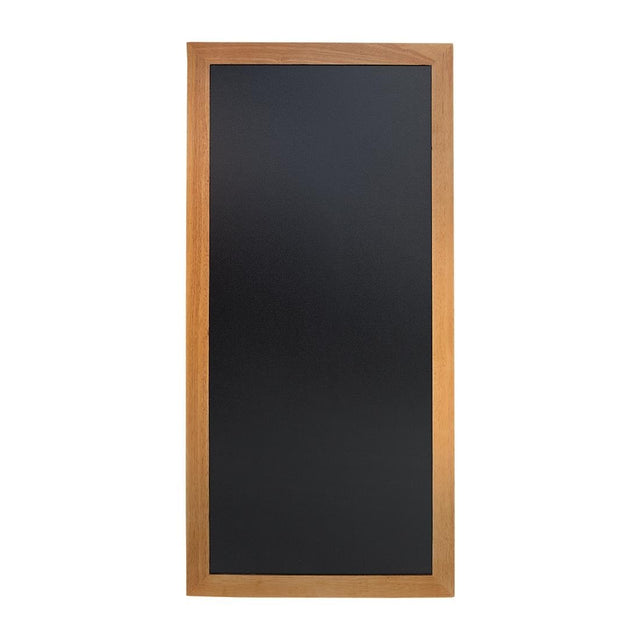 Securit Slim Wall Mounted Blackboard 1200 x 560mm Teak - Y860
