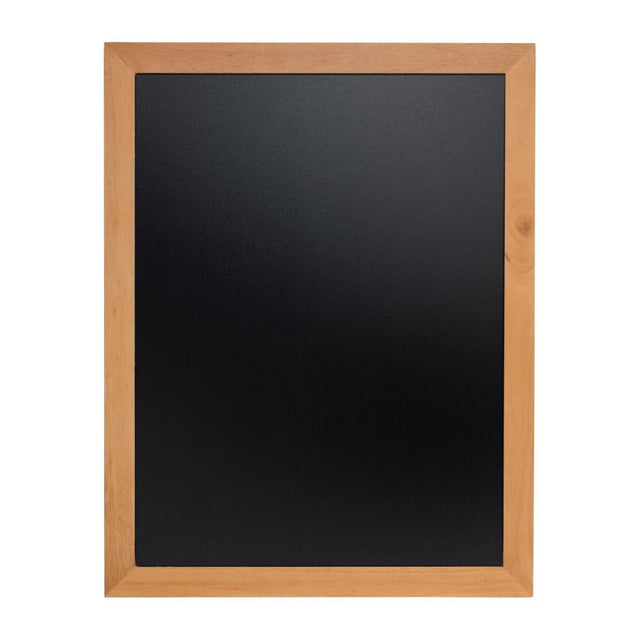 Securit Wall Mounted Blackboard 900x700mm Teak - Y867