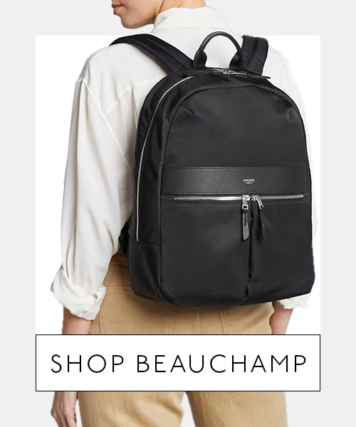 Model Wearing Laptop Backpack - Shop Beauchamp