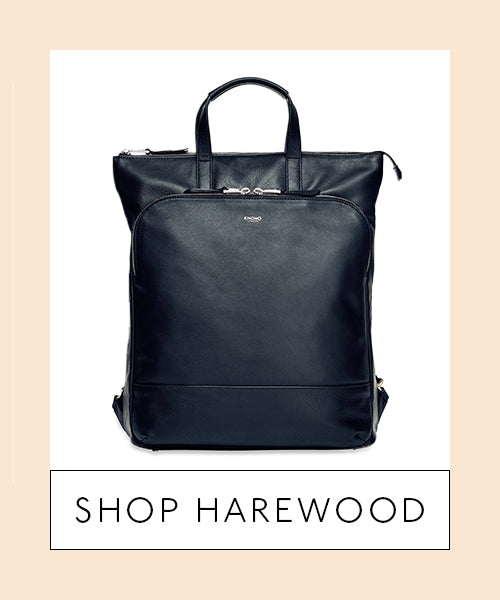 Leather Laptop Totepack Front - Shop Harewood