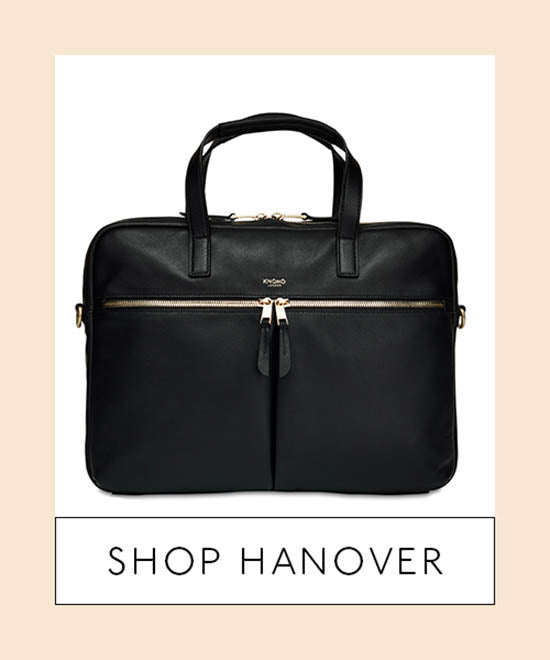 Leather Laptop Briefcase Front - Shop Hanover