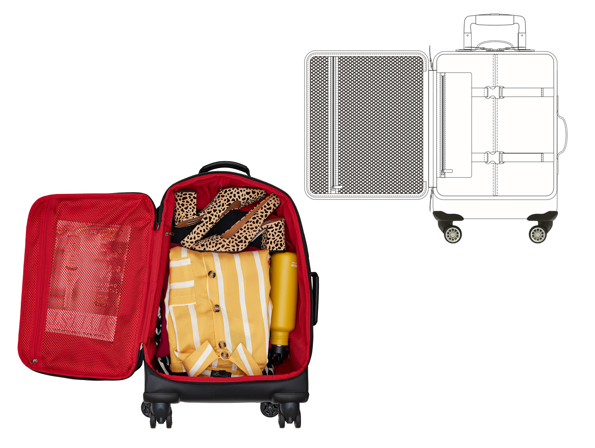 Park Lane: 34 litre suitcase carry on board airplane