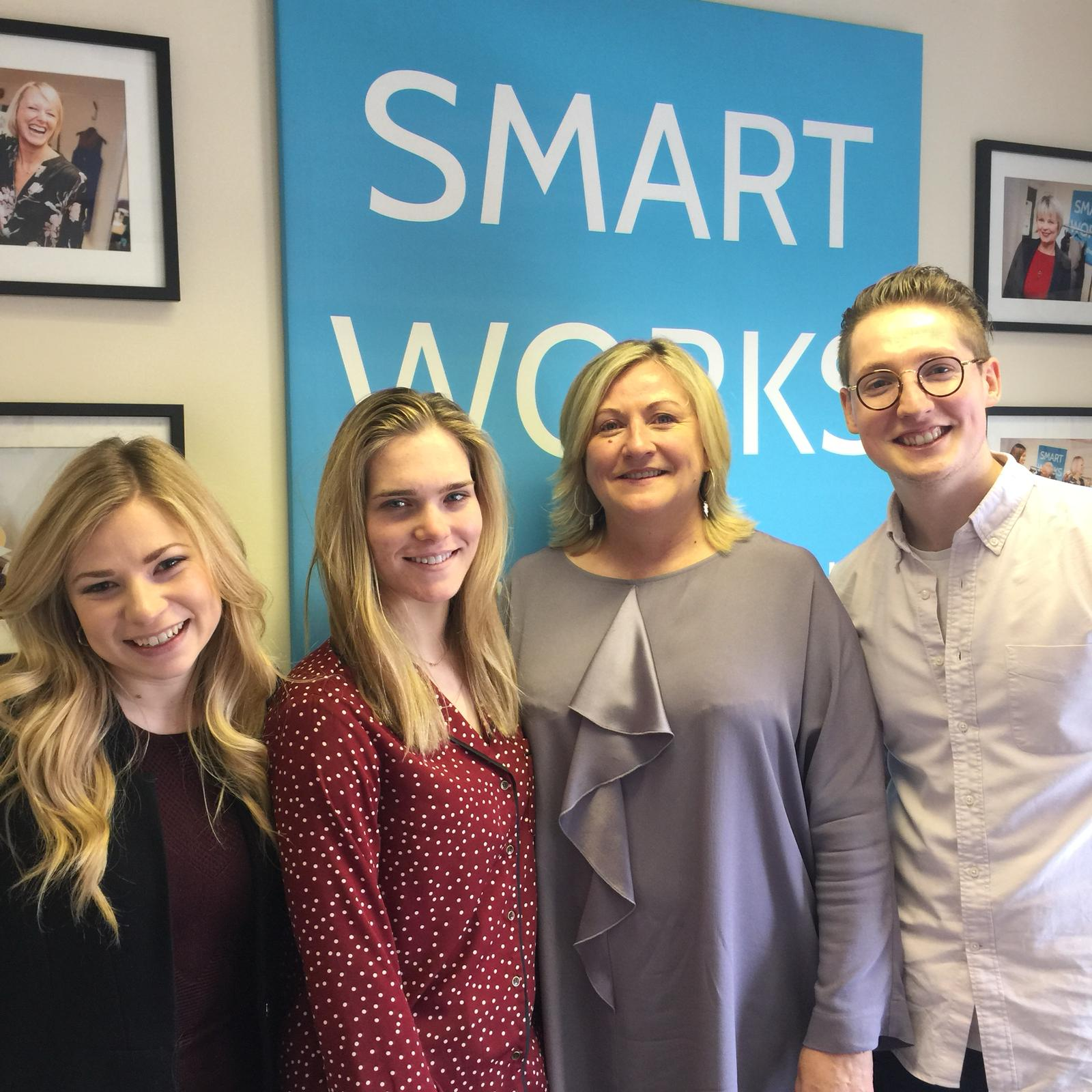 Knomo team visit Smart Works charity