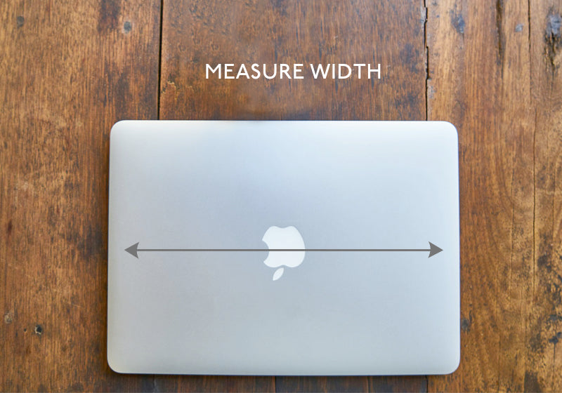 Measure the laptop lid from left to right for the width