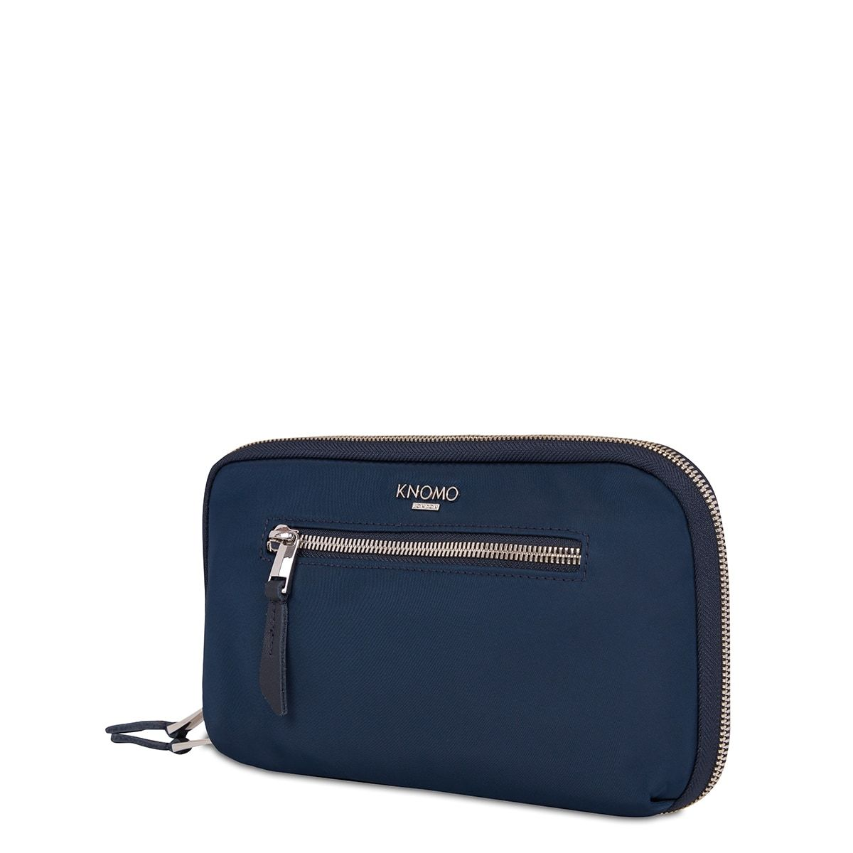 "KNOMO Knomad Travel Wallet Travel Organiser Three Quarter View 8"" -  Dark Navy Blazer 