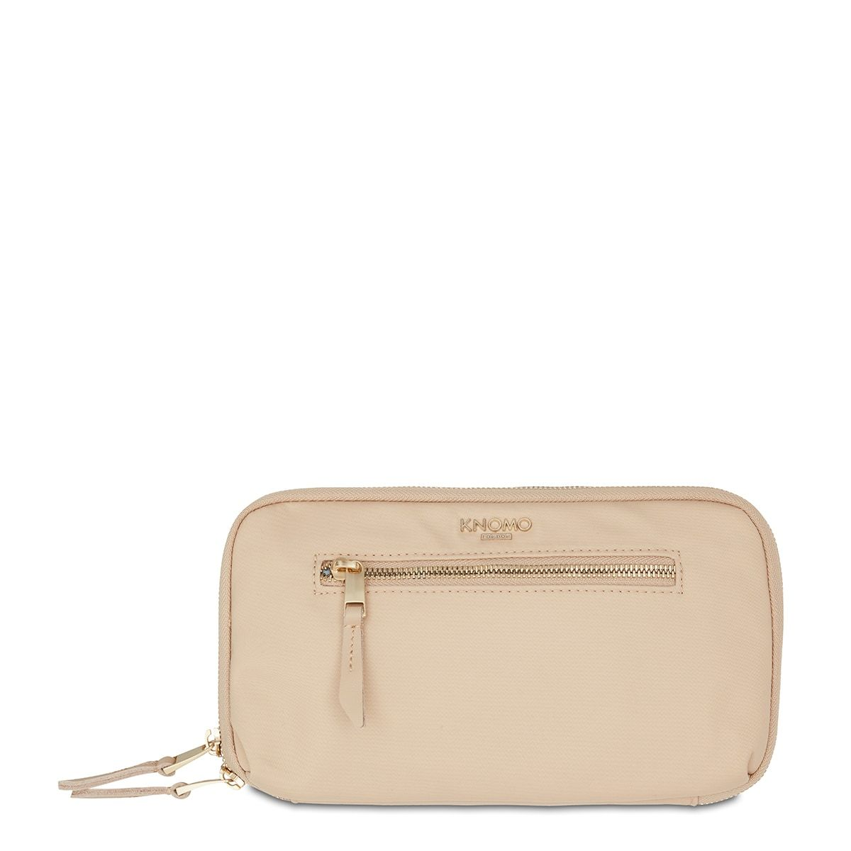 "KNOMO Knomad Travel Wallet Travel Organiser From Front 8"" -  Trench Beige 