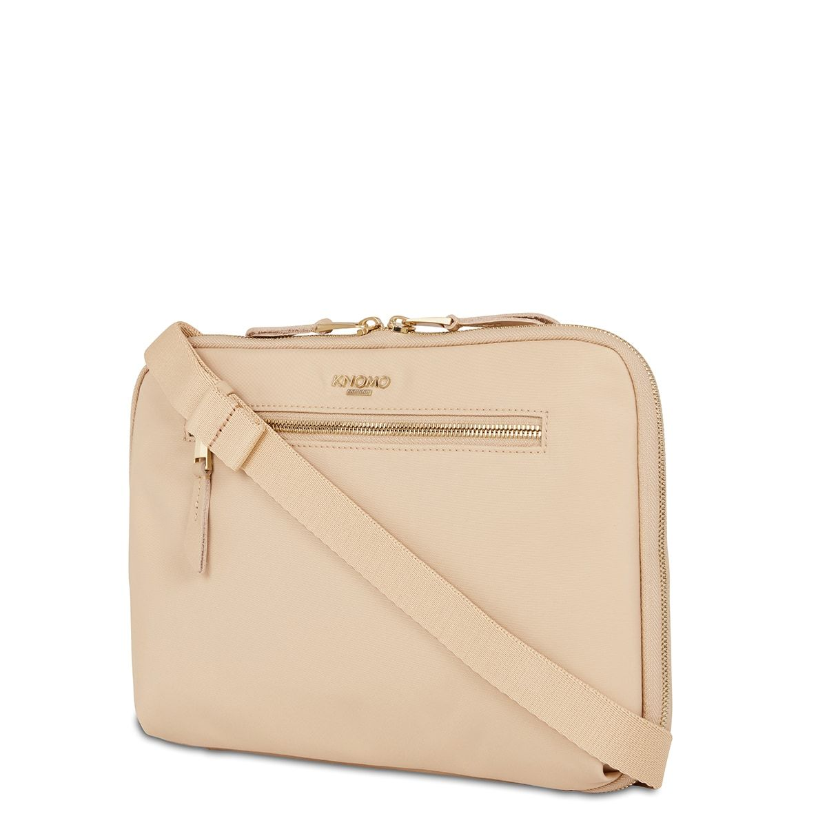 "KNOMO Knomad X-Body Organiser Tech Organiser Three Quarter View With Strap 10.5"" -  Trench Beige 
