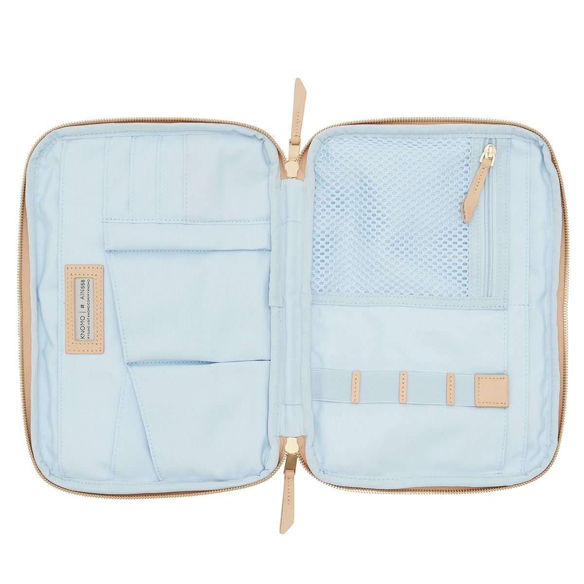 "KNOMO Knomad X-Body Organiser Tech Organiser Internal View Empty 10.5"" -  Trench Beige 