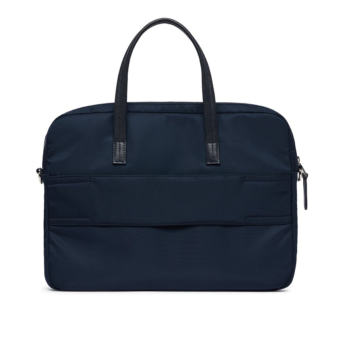 "KNOMO Hanover Laptop Briefcase From Back 14"" -  Dark Navy Blazer 