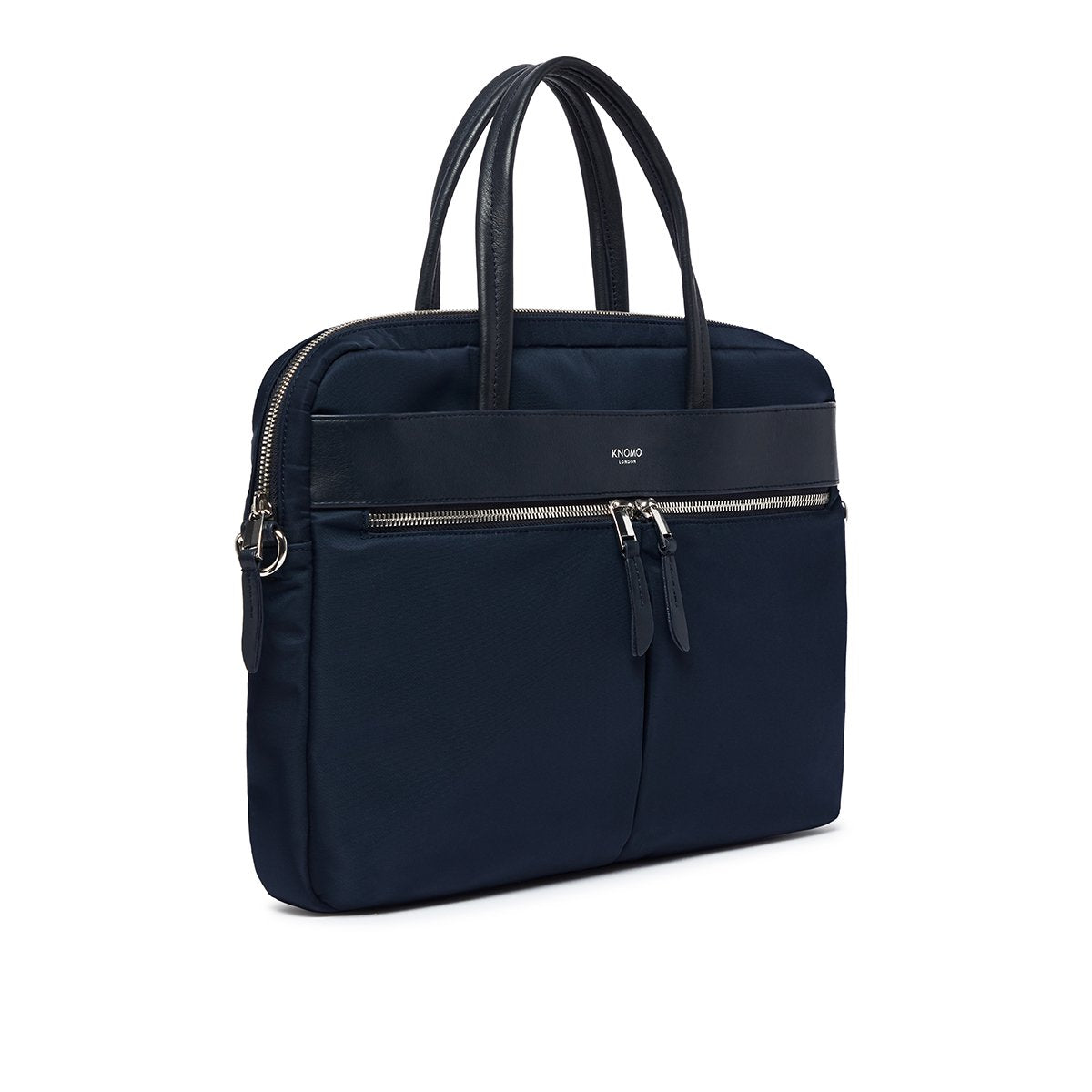 "KNOMO Hanover Laptop Briefcase Three Quarter View 14"" -  Dark Navy Blazer 