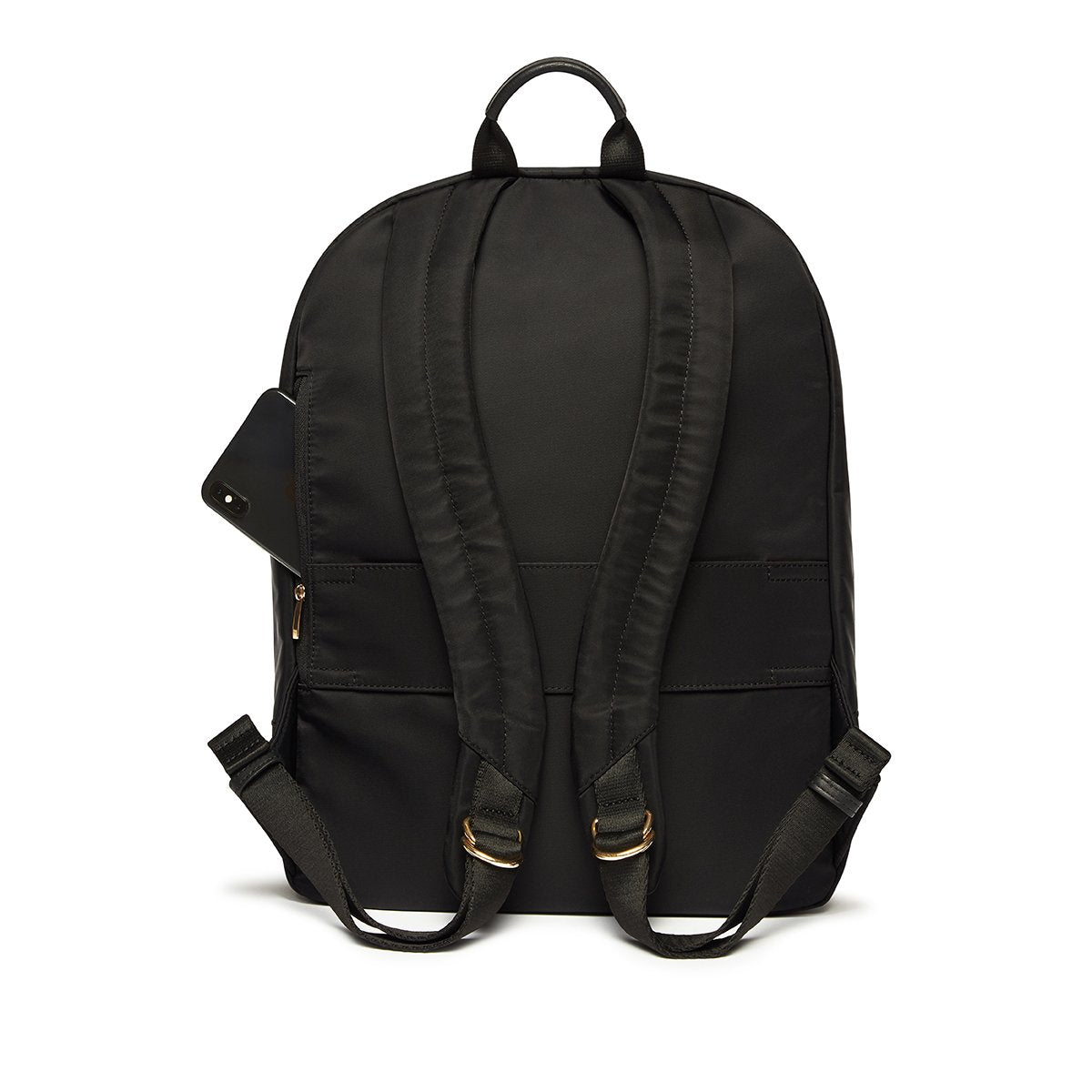 "KNOMO Beauchamp Laptop Backpack From Back With Side Pocket 14"" -  Black 
