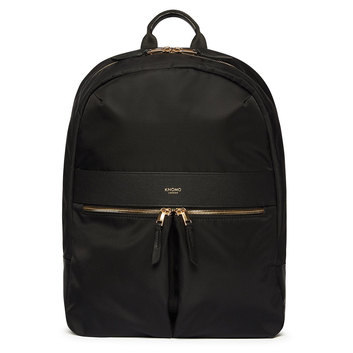 "KNOMO Beauchamp Laptop Backpack From Front 14"" -  Black 