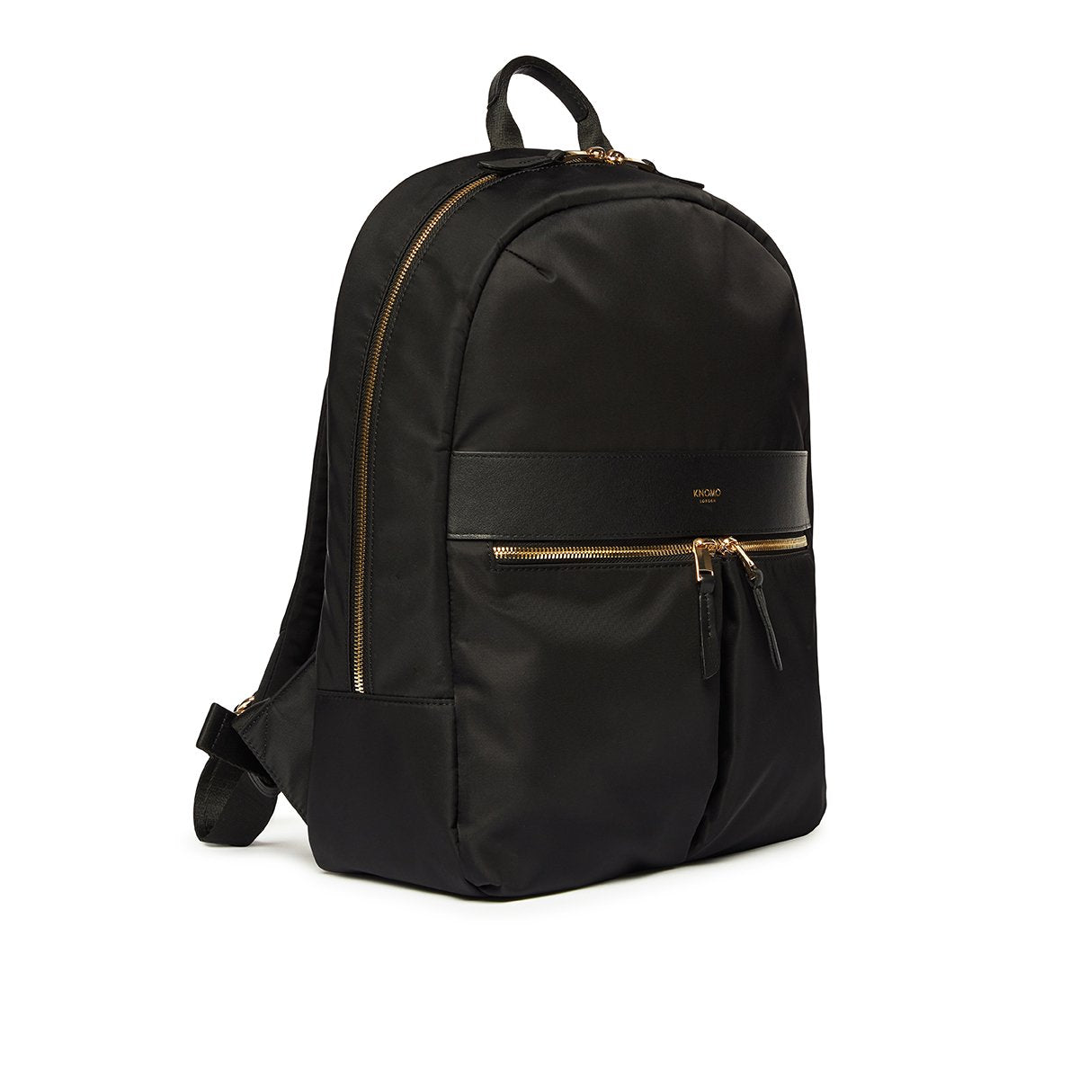 "KNOMO Beauchamp Laptop Backpack Three Quarter View 14"" -  Black 