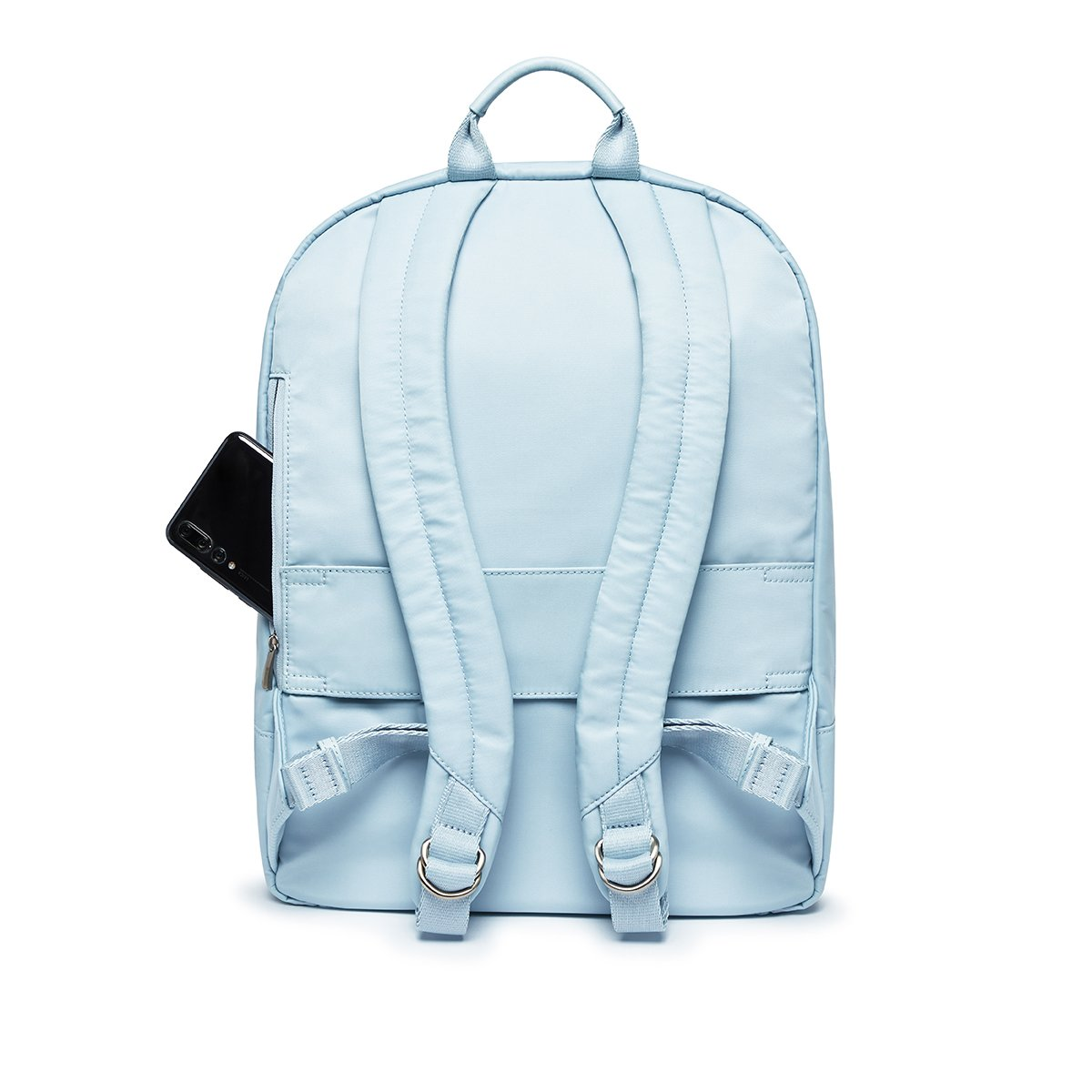 "KNOMO Beauchamp Laptop Backpack From Back 14"" -  Poplin Blue 