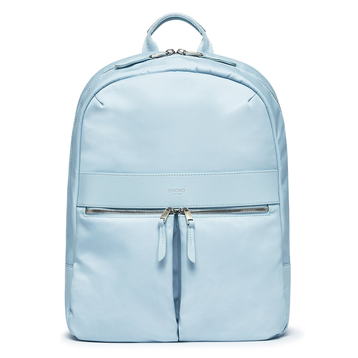"KNOMO Beauchamp Laptop Backpack From Front 14"" -  Poplin Blue 
