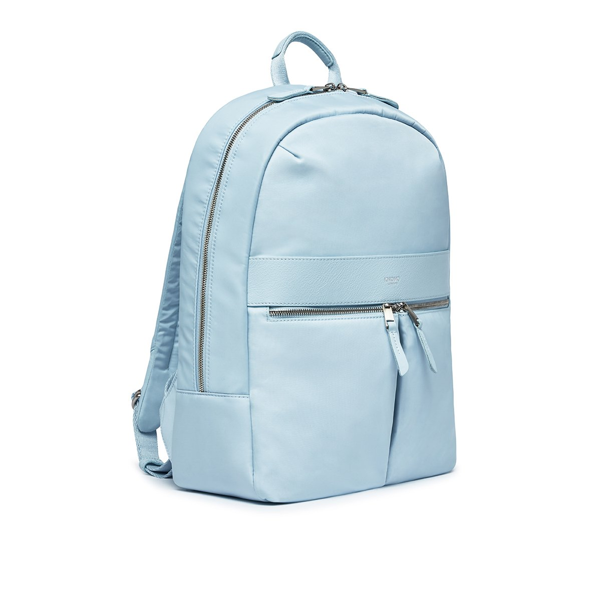 "KNOMO Beauchamp Laptop Backpack Three Quarter View 14"" -  Poplin Blue 