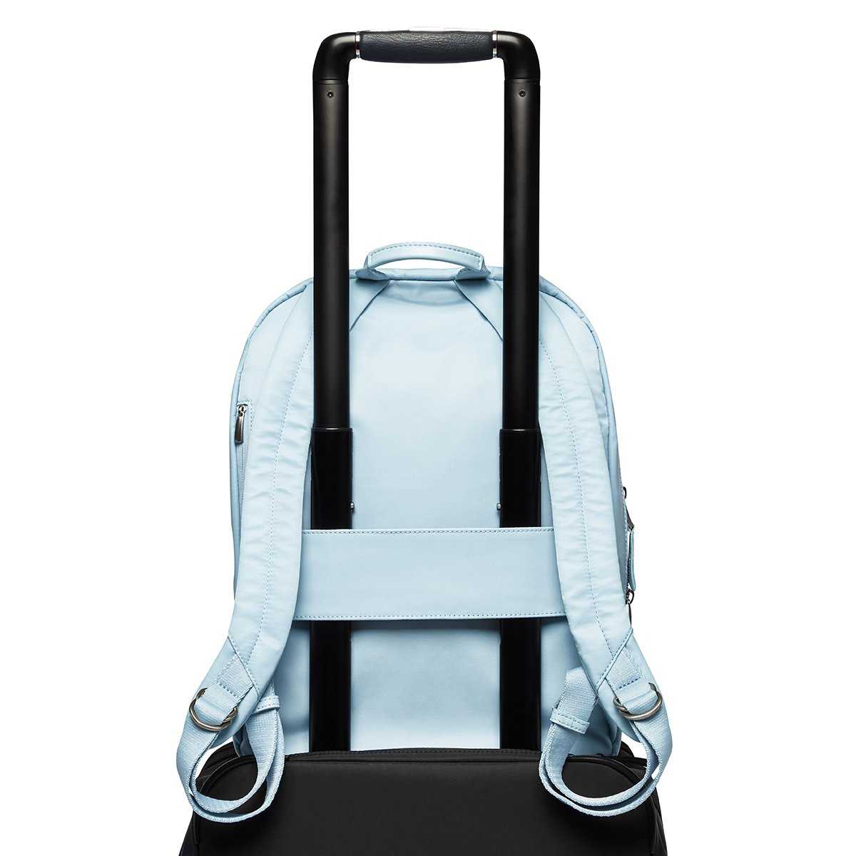 "KNOMO Beauchamp Laptop Backpack Trolley Sleeve View 14"" -  Poplin Blue 