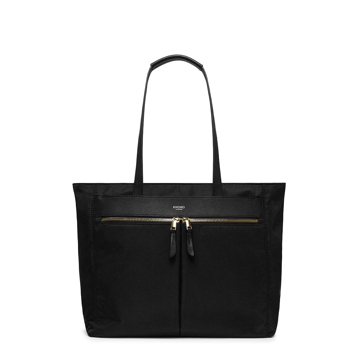 "KNOMO Grosvenor Place Tote From Front 14"" -  Black 