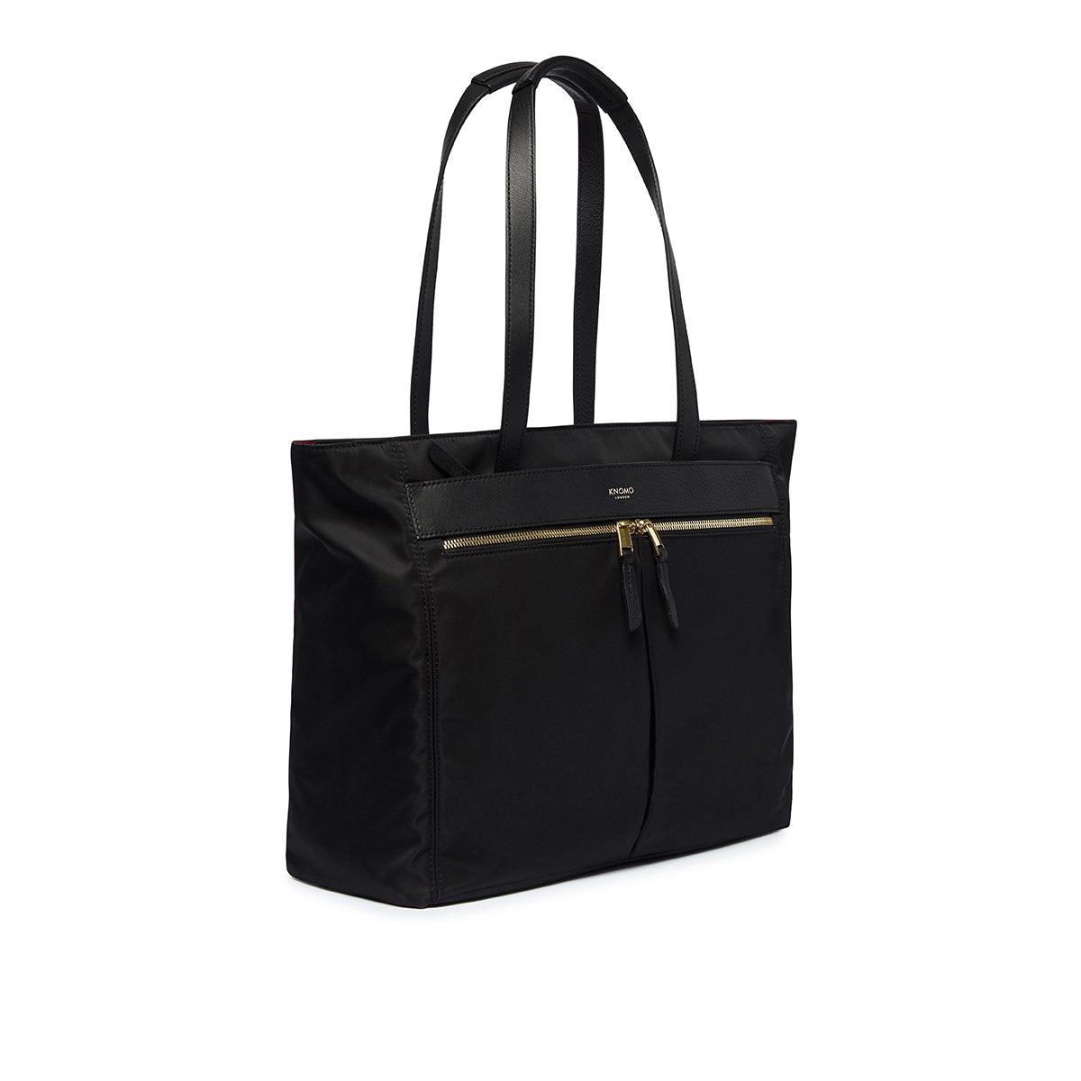 "KNOMO Grosvenor Place Tote Three Quarter View 14"" -  Black 