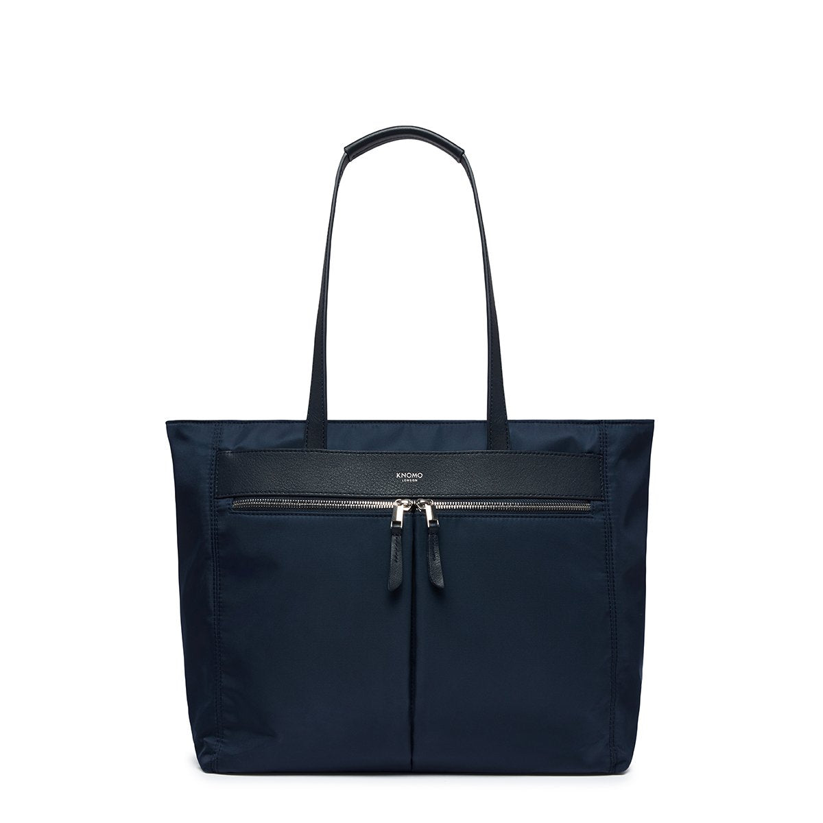 "KNOMO Grosvenor Place Tote From Front 14"" -  Dark Navy Blazer 