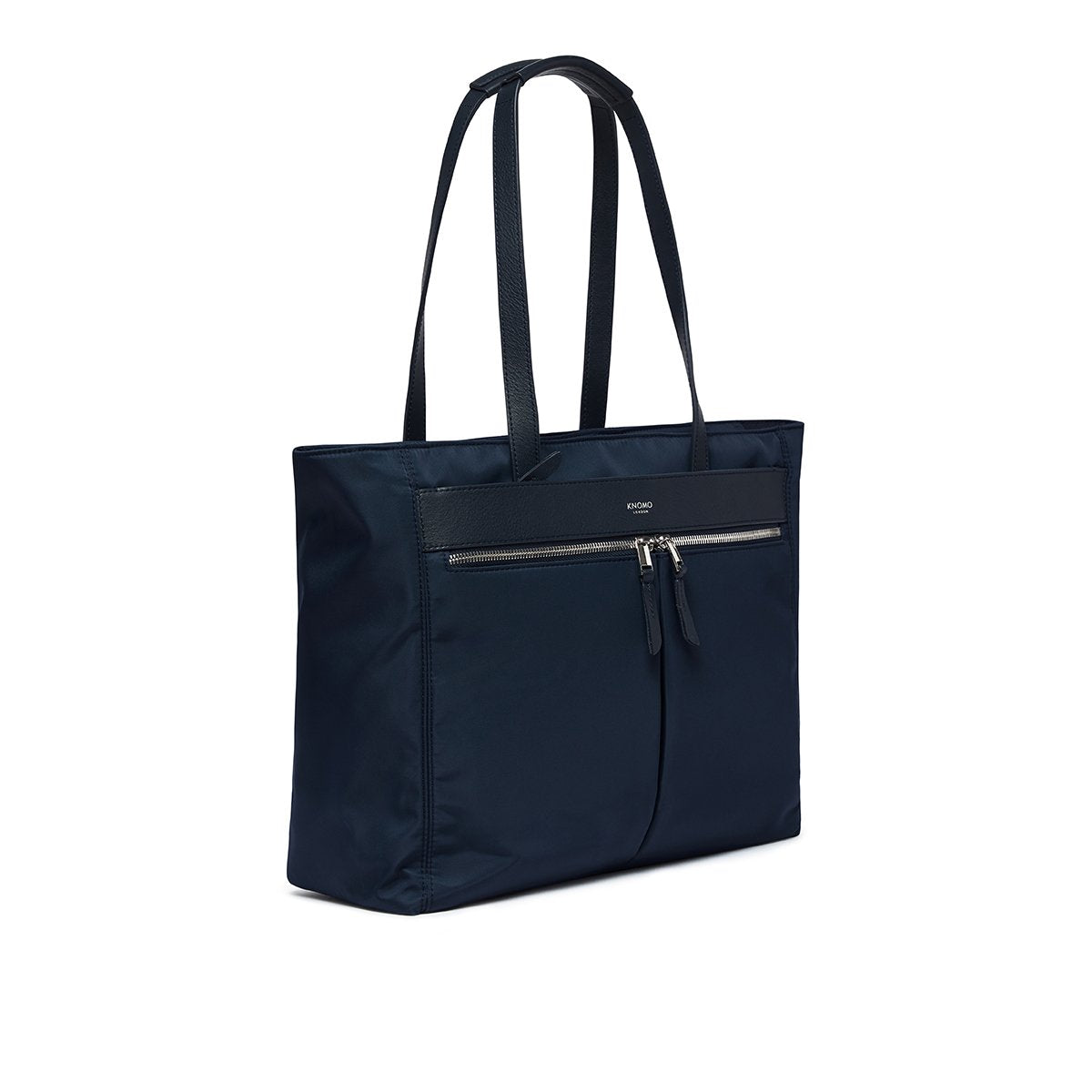 "KNOMO Grosvenor Place Tote Three Quarter View 14"" -  Dark Navy Blazer 