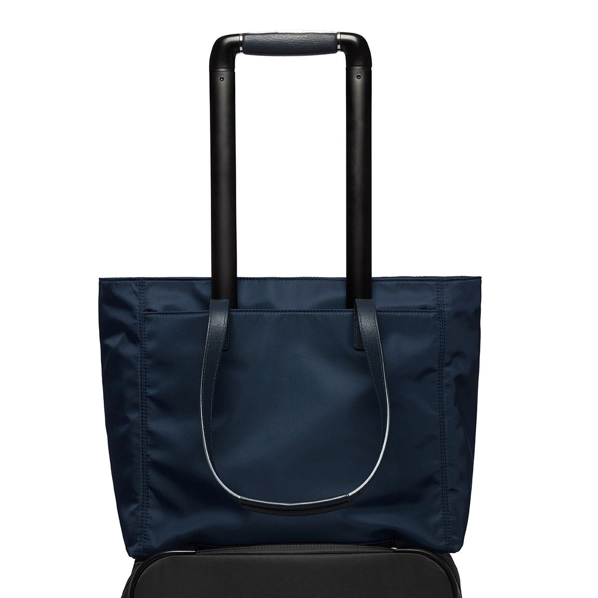 "KNOMO Grosvenor Place Tote Trolley Sleeve View 14"" -  Dark Navy Blazer 