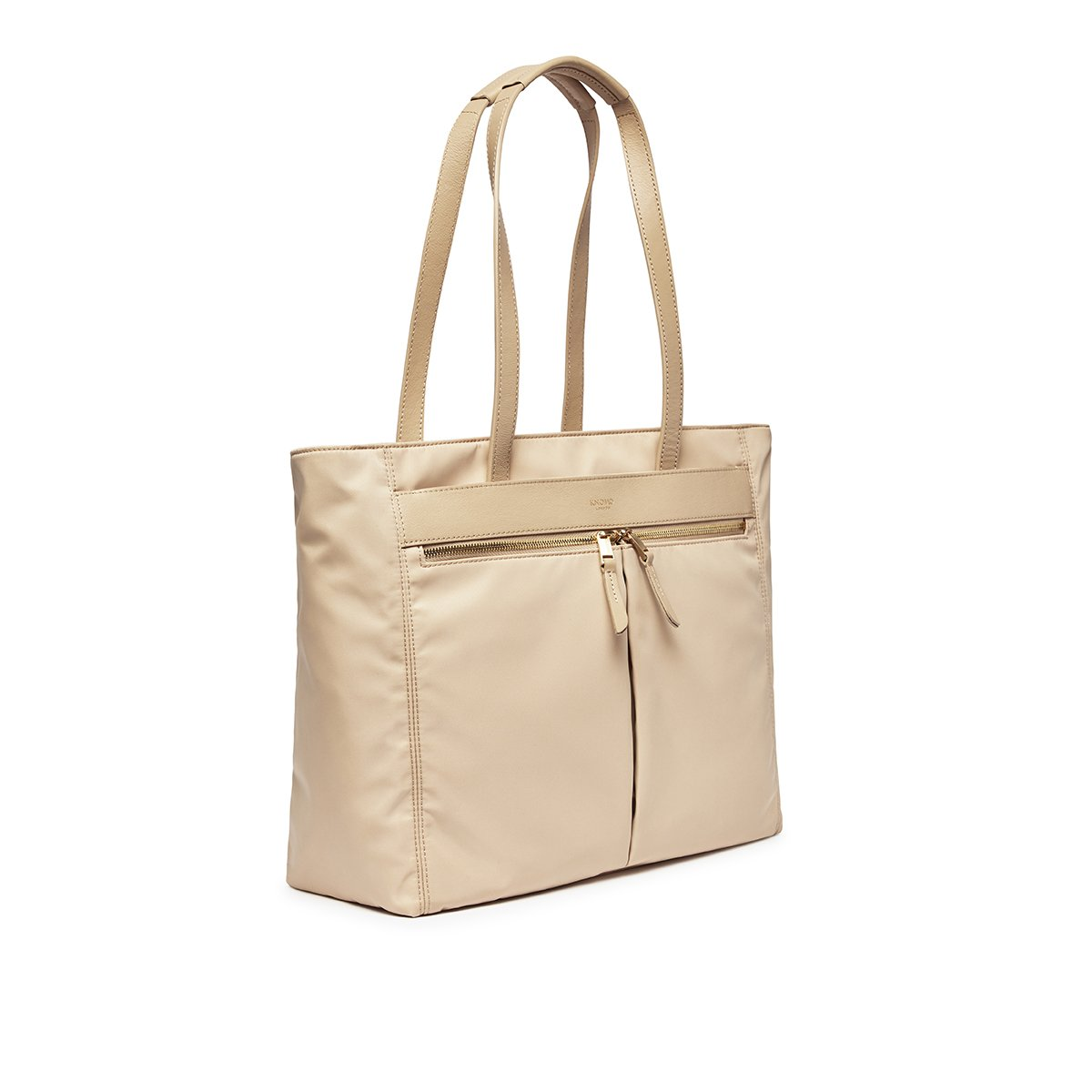 "KNOMO Grosvenor Place Tote Three Quarter View 14"" -  Trench Beige 