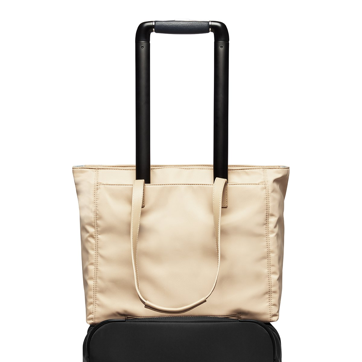 "KNOMO Grosvenor Place Tote Trolley Sleeve View 14"" -  Trench Beige 