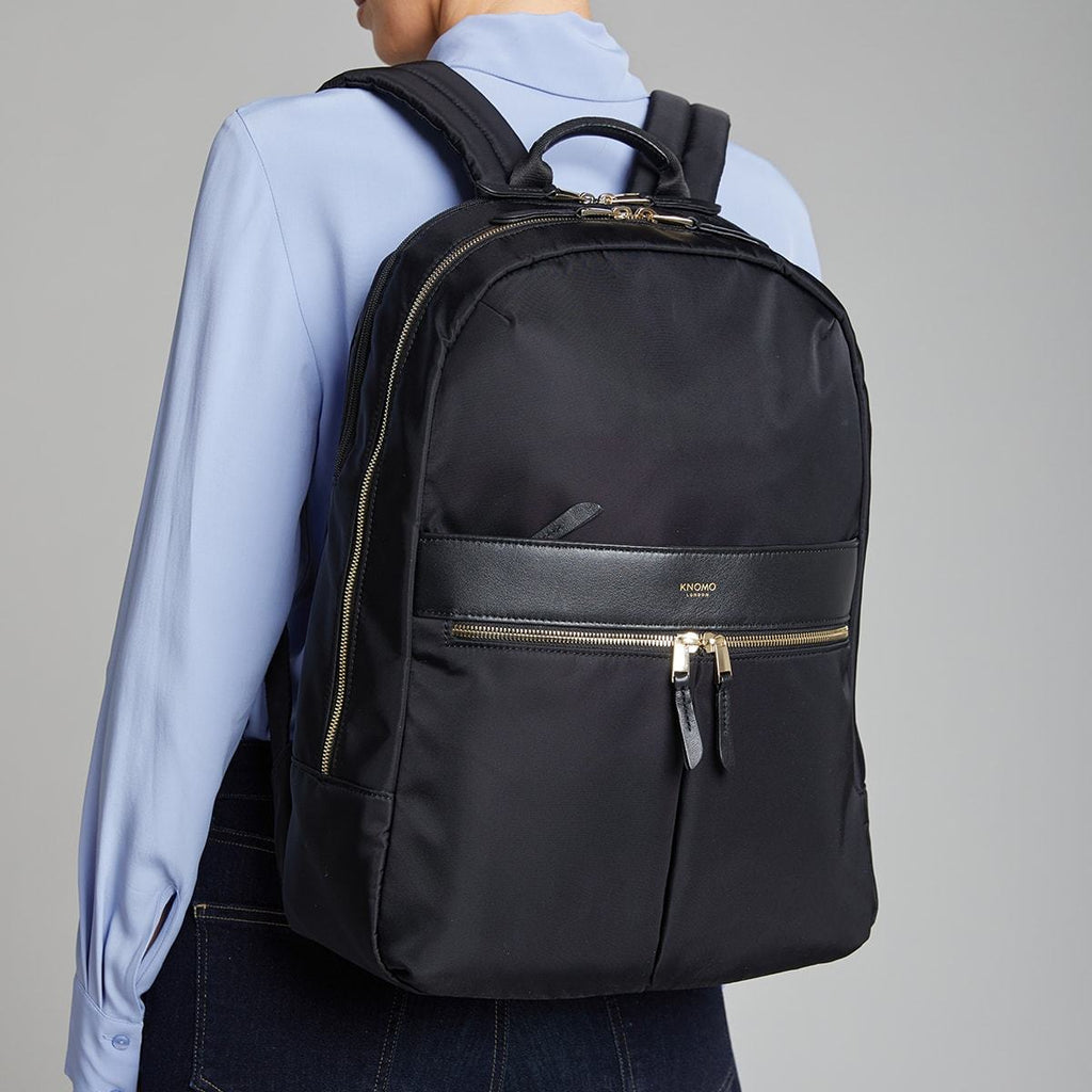 "Beaufort Women's 15.6"" Laptop Backpack - Black – KNOMO"
