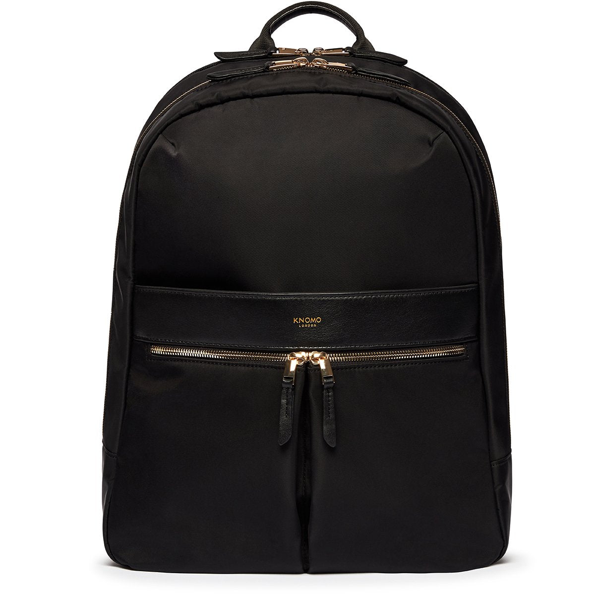 "KNOMO Beaufort Laptop Backpack From Front 15.6"" -  Black 