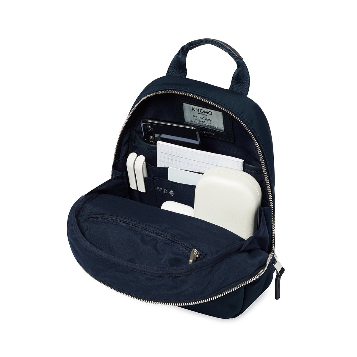 "KNOMO Beauchamp XS Backpack Internal With Items 8"" -  Dark Navy Blazer 