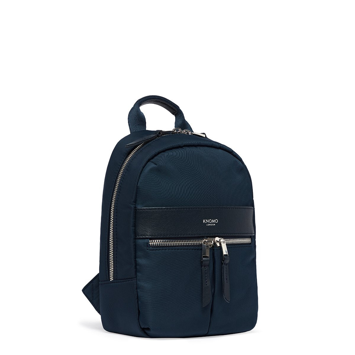 "KNOMO Beauchamp XS Backpack Three Quarter View 8"" -  Dark Navy Blazer 