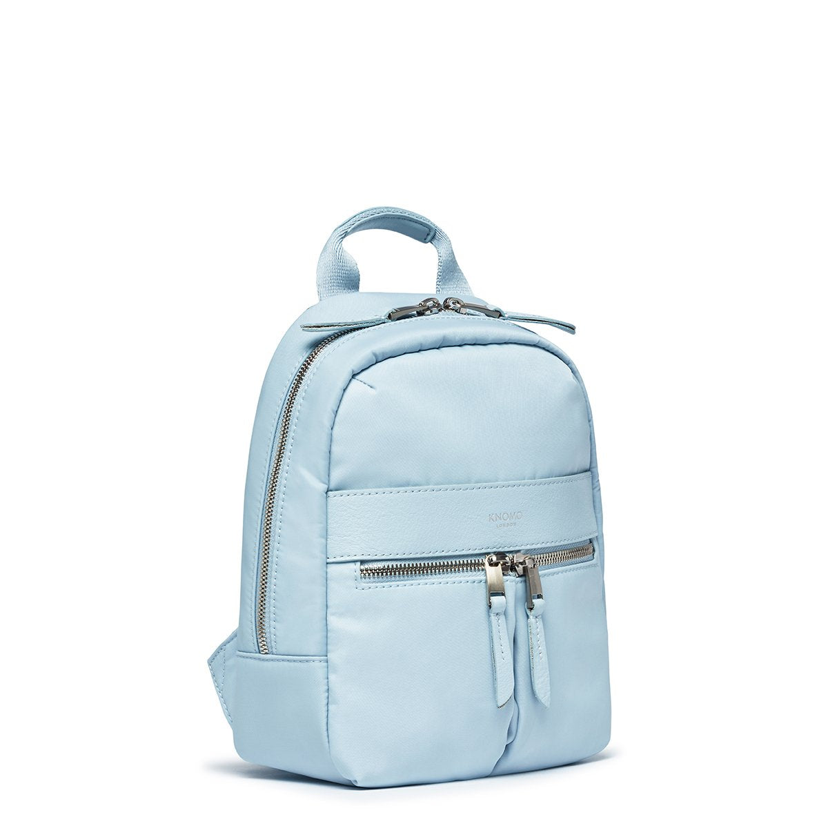 "KNOMO Beauchamp XS Backpack Three Quarter View 8"" -  Poplin Blue 