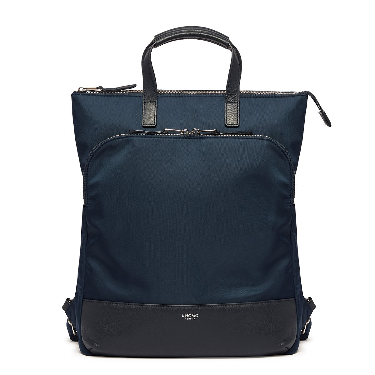 "KNOMO Harewood Laptop Tote Backpack From Front 15"" -  Dark Navy Blazer 