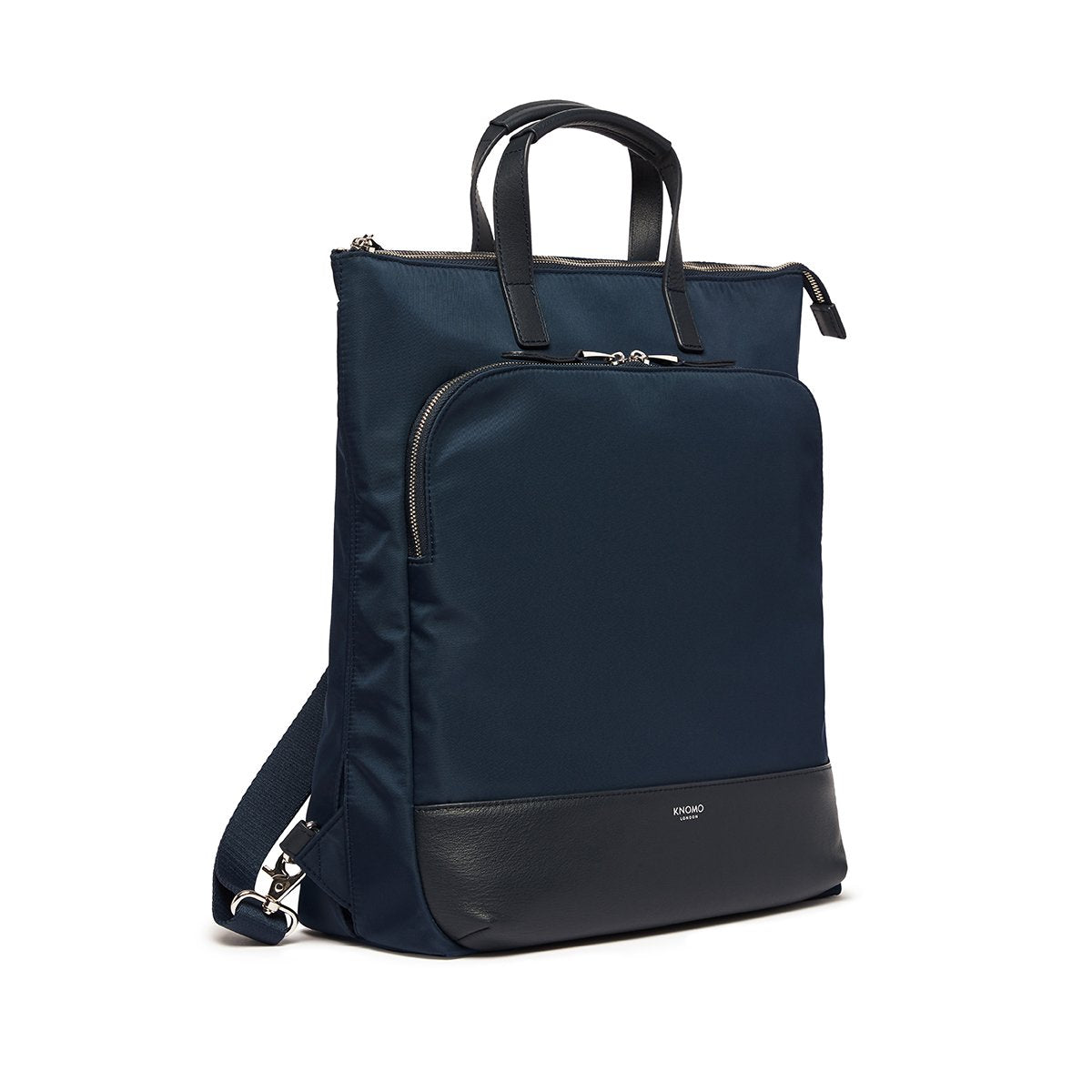 "KNOMO Harewood Laptop Tote Backpack Three Quarter View 15"" -  Dark Navy Blazer 