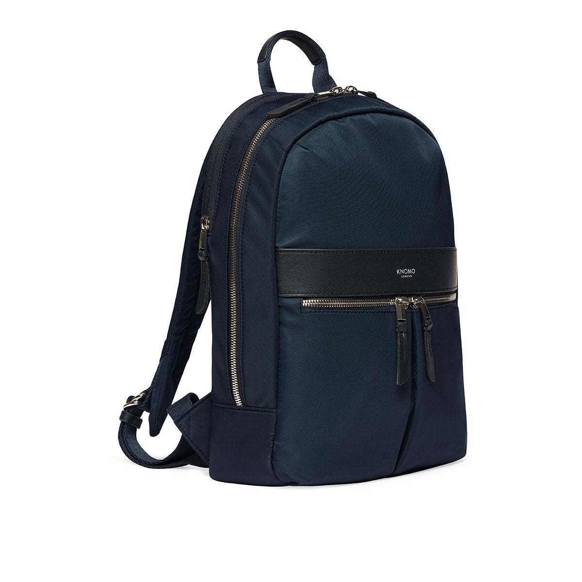 "KNOMO Mini Beaufort Backpack Three Quarter View 12"" -  Dark Navy Blazer 